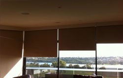 artisan blinds and shutters can professional install premium comercial roller blinds